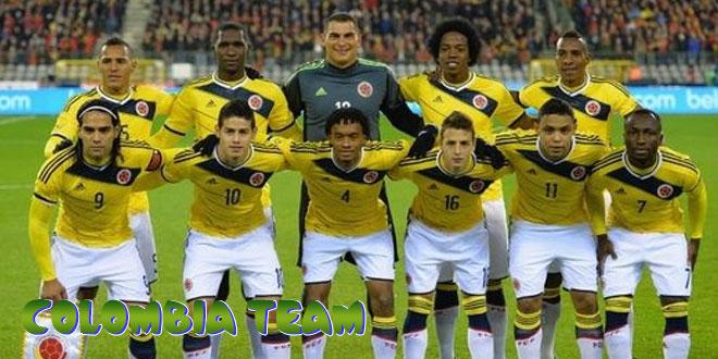 Kolumbija – Kolumbijos rinktinė, komanda