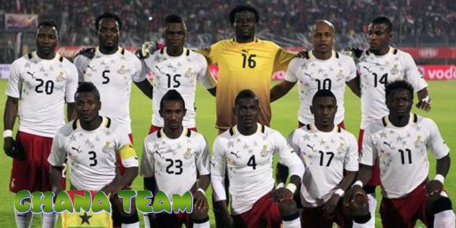 Gana – Ganos rinktinė, komanda