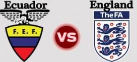 Anglija 2 – 2 Ekvadoras, draugiškos rungtynės