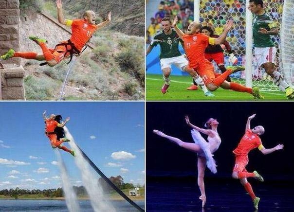 Olandijos rinktinės žaidėjas Arjenas Robenas, puikius aktoriškus sugbėjimus turintis žaidėjas
