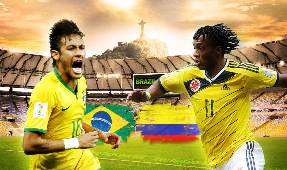 Brazilija 2 – 1 Kolumbija. Šeimininkai keliauja į tolimesnį etapą. (video)