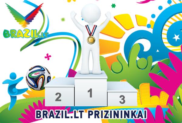 BRAZIL.LT prizų laimėtojai