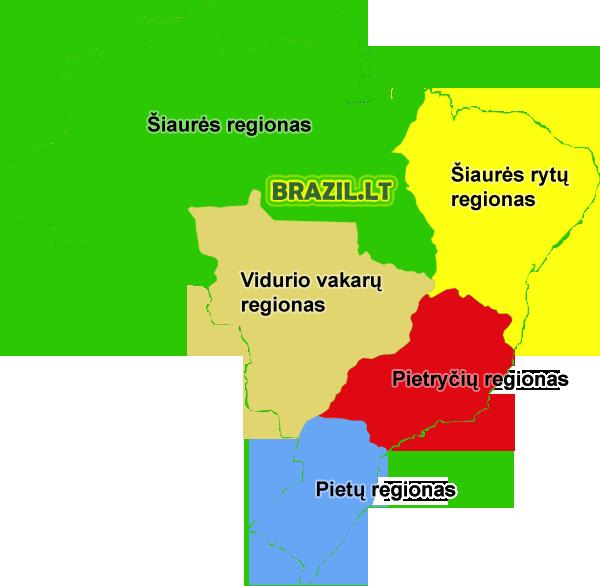 Brazilijos regionai